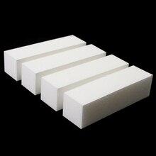 10 шт./партия ногтей буферный файл блок Педикюр Маникюр Полировка шлифовальный лак белый дизайнер