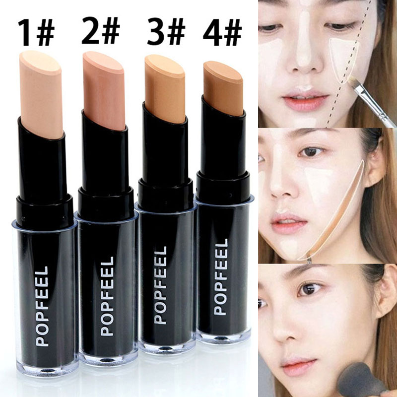 Brand Face Make Up Contouring Concealer Stick 4 Colors Primer Makeup Paleta Corrector Base Face Concealer Caneta Full Cover