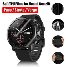 New Fashion Soft TPU Hydrogel Film Full Cover Screen Protectors for Huami Amazfit Pace Stratos Verge Lite Anti-Scratch(China)