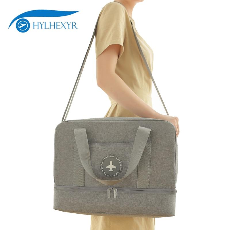 Hylhexyr Dry Wet Separation Shoe Pack Handbag Ladies Casual Tote Women Shoulder Bags Waterproof Beach Travel Bag Unisex