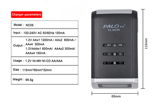 Image 5 - PALO 4 Slots Smart LCD Display Charger For AA/AAA NiMH NI CD Rechargeable Battery Intelligent AA AAA Battery Charger