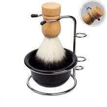 Shaver-Kits-Set Shaving-Bowl Mug-Brush Stand-Holder Beard-Clean Stainless-Steel Soap-Dish