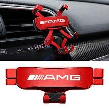 Suporte Do Telefone Do Carro gravidade Detecção Automática Aperto Suporte De Metal Para O Benz AMG W124 W211 W212 W210 W203 W204 W126 W168 W169 W176 W177 W212