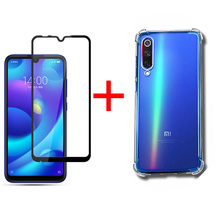 Soft Silicone Case For Xiaomi Mi 9 Se 9t Phone 9se Covers With Screen Protector Film