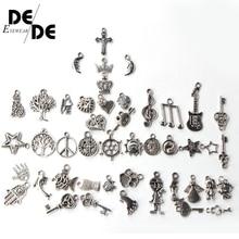 2019 Fashion Plated Tibetan Silver Mixed charms Pendants fit bracelet DIY Jewelry making 20PCS/30PCS/50PCS Random Mix
