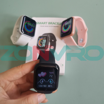 D20 Bluetooth Smart Watches Men Waterproof Sport Fitness Tracker Smart Bracelet Blood Pressure Heart Rate Monitor Y68 Smartwatch 5