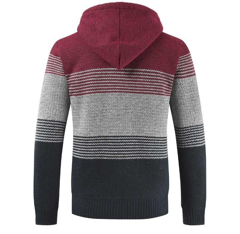 Thick Warm Hooded Cardigan Sweater 14