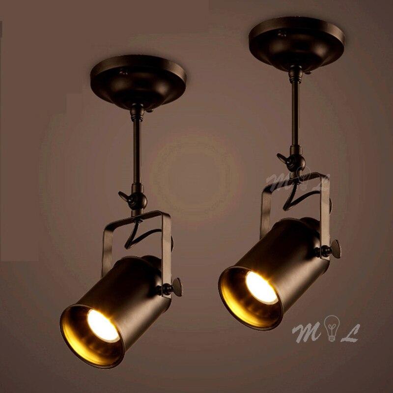 Retro Spotlight Industrial Spot Led Spot Light Fixtures Restaurant Clothing Shop Spot Lights COB Spot Lighting Suspension Deco