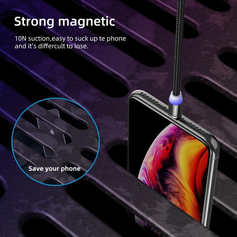 Câble magnétique de micro USB de type C, marque Essager pour iPhone, Android et Xiaomi 4