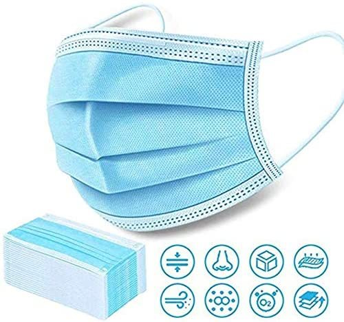 Face Disposable Masks 3 Layers Dustproof Mask Facial Protective Cover Masks Anti-Dust Bacteria Proof Flu Face Mask DHL delivery 2