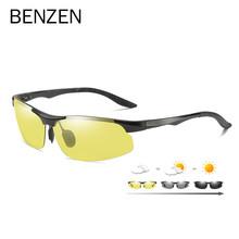 BENZEN okulary przeciwsłoneczne fotochromowe polaryzacyjne mężczyźni aluminium magnezu okulary do jazdy mężczyzna dzień noktowizor kierowcy gogle 9518 tanie tanio