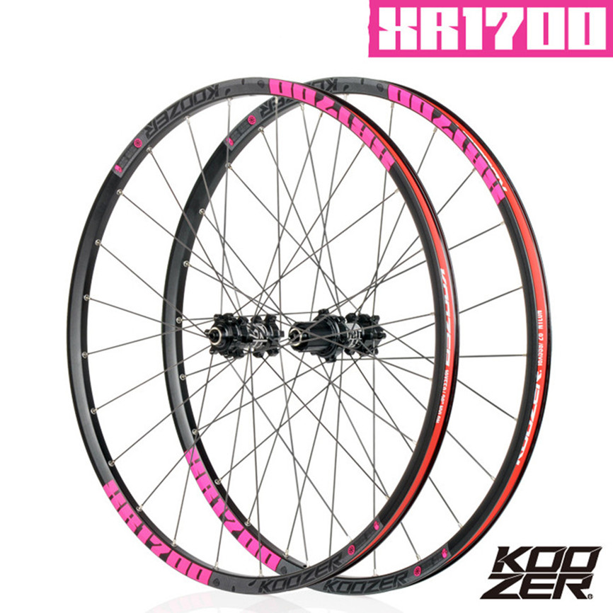KOOZER XR1700 MTB Mountain <font><b>Bike</b></font> 26 27.5inch Wheelset <font><b>6</b></font> Claw Sealed Bearing QR Thru-axis Bicycle Disc Braake <font><b>Wheels</b></font> DT <font><b>Spoke</b></font> 24H image