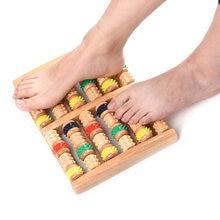 Красочный шиацу массажер деревянный ролик для ног рефлекторный