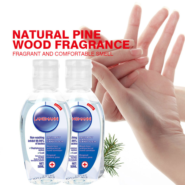 50ml Disposable Hand Sanitizer Household Travel Anti Bacterial Quick-dry Hand Disinfection Gel for Kid Adult 3