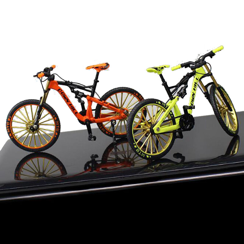 1/10 Metal Alloy Diecast Bicycle Bike Model Toy Racing Cycle Cross Mountain Bike Replica Collection F Children Kid Gift Display