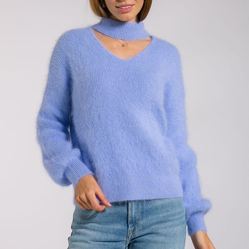 Winter Clothes Hollow Knitted Sweater Casual Soft Sweater Pullover 2020