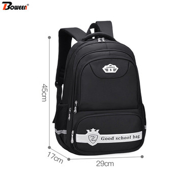 цены Children School Bags for Girls Kids Primary School Backpack Child School Bag Boys Bookbag Black Waterproof Nylon Large Capacity