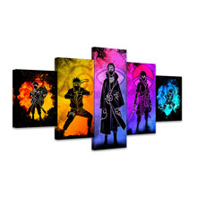 5 шт. холсте душа из аниме «Наруто» персонажей абстрактные картины настенная Картины HD Настенная картина для дома Гостиная украшения