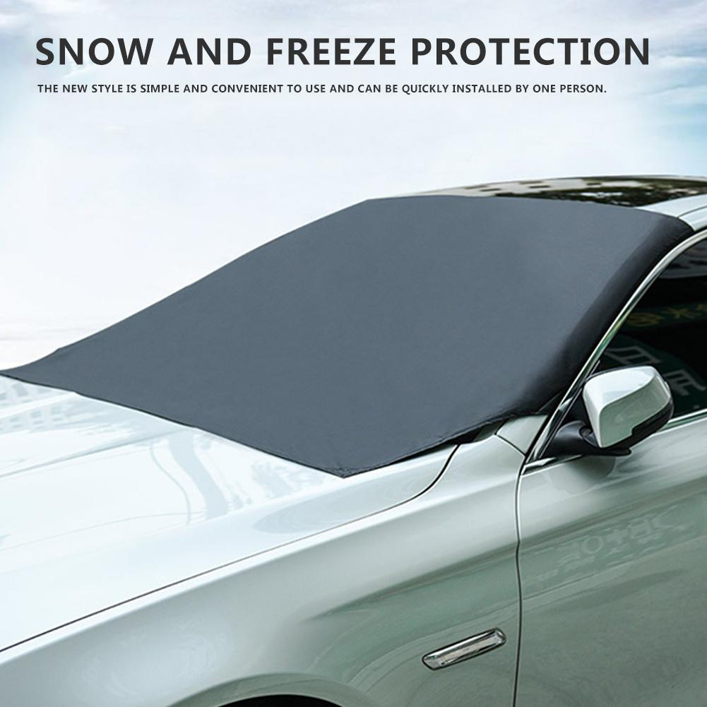 210*120CM Universal Car Front Windshield Cover Car Clothes Black Magnetic Gear Cover Snow Cover