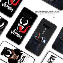Marvel Venom Rubber Painting Case For Samsung Galaxy S7 Edge S8 S9 S10 S20 Plus S10E S10 Lite Soft Silicone TPU Cover Casing(China)