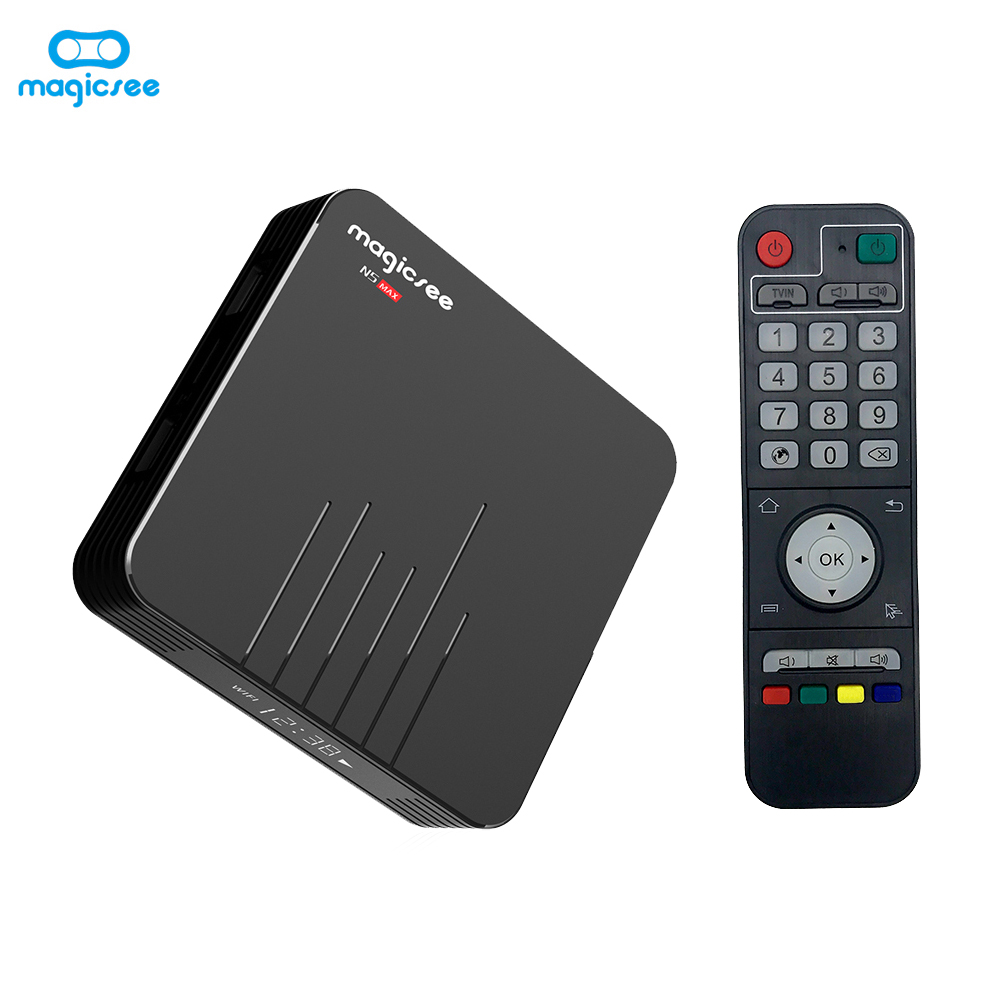 Magicsee N5 Max Smart Android 9.0 TV Box S905X3 Cortex-A55 Quad Core 64 Bit 2.4G & 5G WiFi 4K VP9 Decoding Miracast Media Player(China)