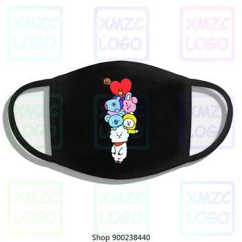 Premium Christmas Mask-Bt21-Bts + Cute Chibi For Mens Women Kids Mask Headband scarf Mask Bandana Women Men