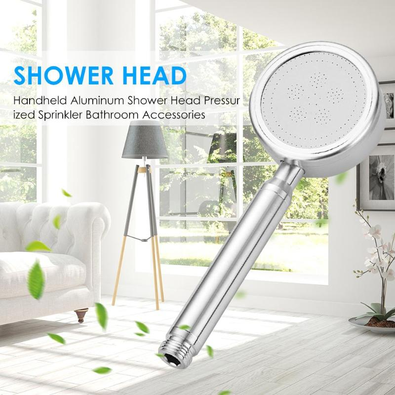Aluminum Hand-held Strong Pressurized Nozzle High Hardness Stainless Steel Booster Panel Water Saving Bathroom Shower Head