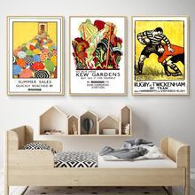 Cartel publicitario Vintage London Underground known Gardens Classic Canvas paints Wall Posters pegatinas decoración del hogar regalo