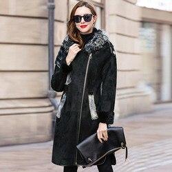 Faced Double Luxury Fur Coat 2020 Winter Coat Women Natural Wool Fur Jacket Women Mink Fur Genuine Sheepskin Coat MY4568