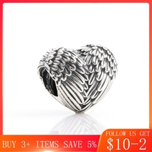 CodeMonkey Genuine 925 Sterling Silver Angel Wings Wings Charm Charm for Original Bracelets DIY Women's Jewelry CMC527