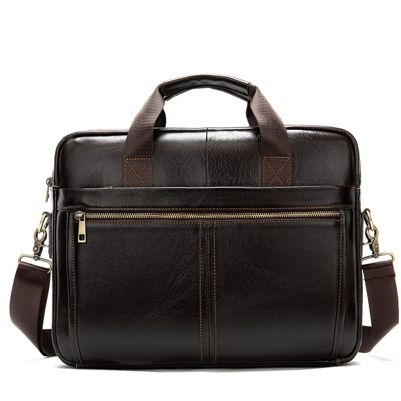 New Arrivals Men Briefcase Bag High Quality Business Famous Brand Cow Leather Shoulder Messenger Bags Office Handbag