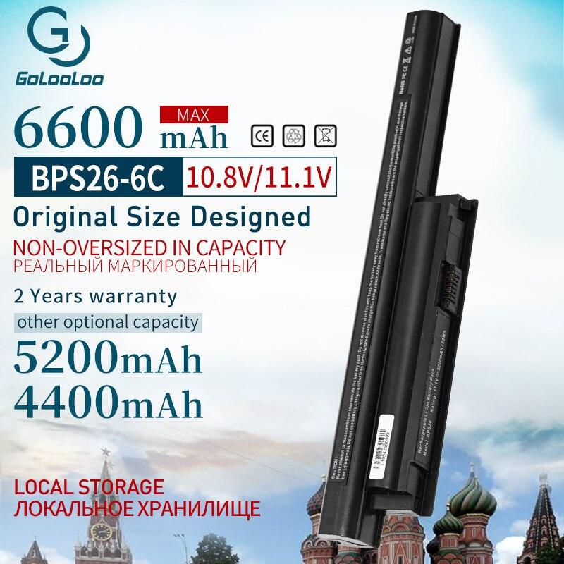 Golooloo 11.1v 6600MAh New Battery For Sony Vaio VGP-BPS26 SVE141 SVE14A SVE15 17 VPC-CA SZ Bps26 BPL26 VGP-BPS26A VPCEH16EC