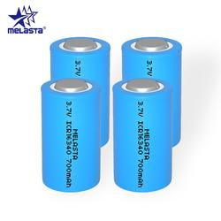 Melasta 4pcs 16340 RCR123A CR123A 3.7V 700mAh rechargeable Lithium ion Li-ion battery for Arlo Series Cameras Hd-Cameras