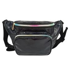 Fanny Pack Women Sport Sequins Waist Bags Leather Money Belt Bag Girls Laser Chest Phone Pouch Kids Packs #B