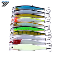 YLEO 1PCS Fishing Lure minnow lure sinking Hard Artificial Bait 3D Eyes 11cm 14g Wobblers Peaca Bass Fake bait