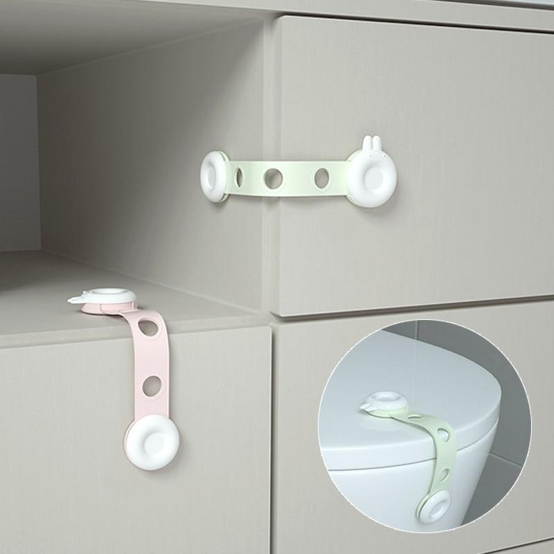 Aelorxin 10Pcs/Lot Rabbit Head Design Drawer Locks Child Protection Rotate On Cabinet Lock Child Lock  Kids Safety Child Lock