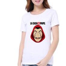 Summer Harajuku Salvador Dali Paper House La Casa De Papel T Shirt Women Tshirt T-shirt Tee Femme Tops Fashion S M L XL XXL
