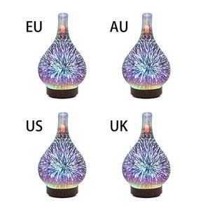 Image 4 - 3D Firework Night Light Ultrasonic Essential Oil Diffuser AU US UK EU Aroma Aromatherapy Fine Fog Humidifier Anti Slip Base Room