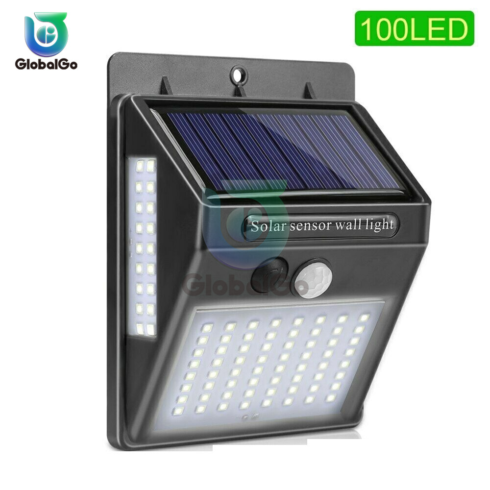 100LED Solar Light Outdoor Street Solar Lamp PIR Motion Sensor Wall Light Waterproof Solar Powered Lights For Garden Pool