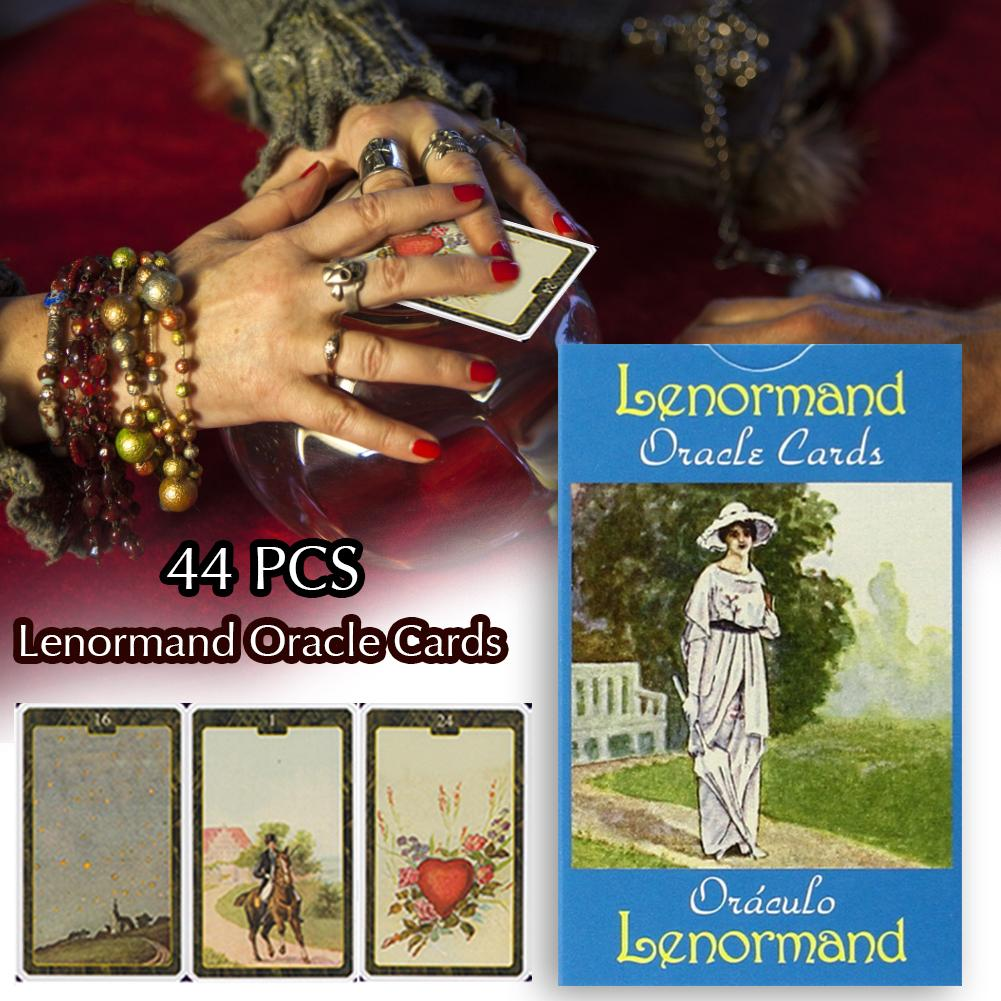 Tarot Cards Kill Time Props Home Stay Game 44PCS Lenormand Oracle Cards Durable Anti-boring Party Fun Game Tarot Cards