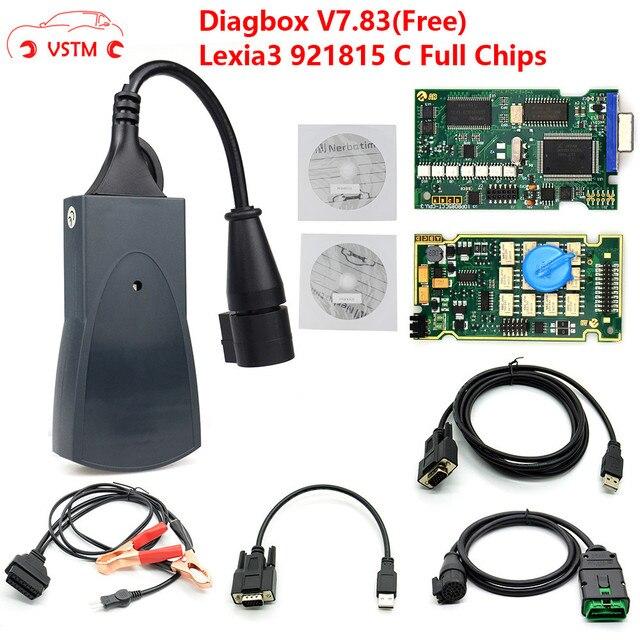Lexia 3 PP2000 полный чип Diagbox V7.83 с прошивкой 921815C Lexia3 V48/V25 новейшая версия OBDII диагностический инструмент