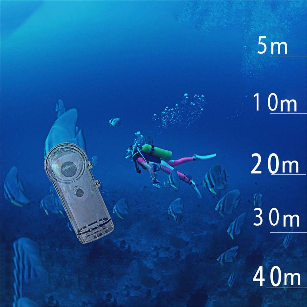 Boîtier de plongée étanche pour caméra Ricoh Theta S/V/SC caméra panoramique 360 ° - 3