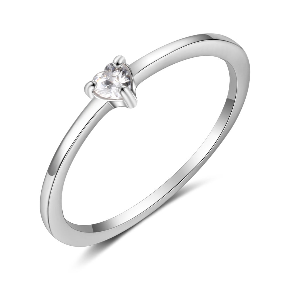 Promise кольцо из стерлингового серебра 925 с кубическим цирконием классические обручальные кольца для женщин подружки невесты подарки(JewelOra RI101321 - Цвет основного камня: R4023