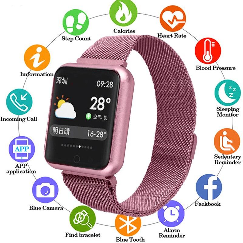Vendita calda P68 Braccialetto Intelligente Multi-sport Wristband IP68 Attività Impermeabile Inseguitore di Fitness Frequenza Cardiaca Smart Vigilanza Degli Uomini Delle Donne