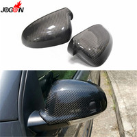 For Volkswagen VW GOLF 5 Jetta MK5 Passat B6 EOS Sharan Superb B5 Carbon Fiber Side Wing Rear View Rearview Mirror Cover Trim