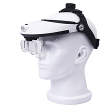 Lamp Head Magnifier High definition Magnifying Glass Reading Maintenance Optical Special 1.0X 1.5X 2.0X 2.5X 3.5X 5 Lens Loupe