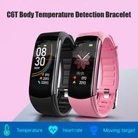 VODOOL-pulsera inteligente C6T IP67 con control del ritmo cardíaco, resistente al agua, para teléfono inteligente