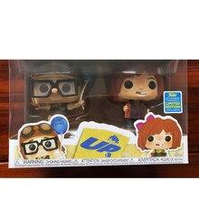 Pop up carl & ellie com caixa figura brinquedos coleção modelo de brinquedo para crianças