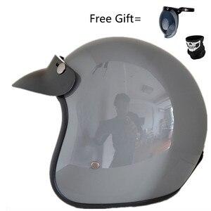 Image 1 - Fashion brand VOSS vintage motorcycle helmets matte black captain america Goggles Retro Vintage Style DOT