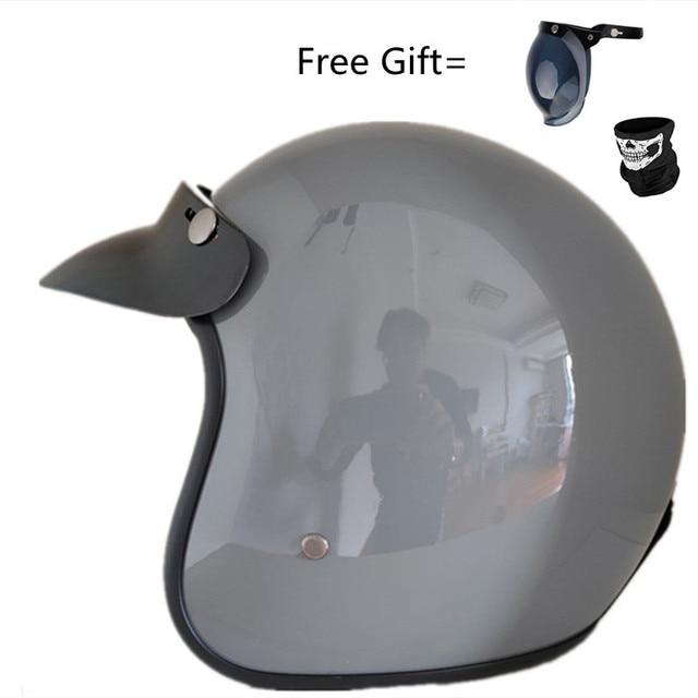 Fashion brand VOSS vintage motorcycle helmets matte black captain america Goggles Retro Vintage Style DOT
